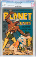 Golden Age (1938-1955):Science Fiction, Planet Comics #30 (Fiction House, 1944) CGC FN/VF 7.0 Light tan tooff-white pages....