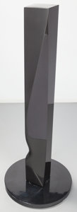 Sculpture, Xavier Corberó (Spanish, b. 1935). Miss Sims. Black marble. 68 inches high (172.7 cm) on a 1-3/4 inches (4.4 cm) base. ...
