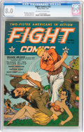 Golden Age (1938-1955):War, Fight Comics #18 (Fiction House, 1942) CGC VF 8.0 Off-white towhite pages....