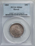 Coins of Hawaii , 1883 25C Hawaii Quarter MS64 PCGS. PCGS Population (342/307). NGCCensus: (230/273). Mintage: 242,600. ...