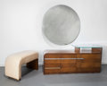 Furniture : American, Gilbert Rohde (American, 1894-1944). Vanity with Mirror and Vanity Seat, 1933, Design for Living by Herman Miller Furnit...