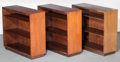 Furniture : American, Gilbert Rohde (American, 1894-1944). Three MansoniaBookcases, circa 1935, Herman Miller Furniture Company,Zeeland, Mic... (Total: 3 Items)