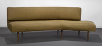 Edward Wormley (American, 1907-1995) Winged Gabrielle Arc Sofa, 1947, Modern for Dunbar Wool upholst