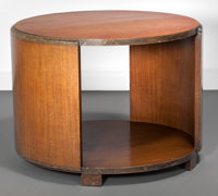 Gilbert Rohde (American, 1894-1944) Mansonia Round Occasional Table, 1935, Herman Miller Furniture Comp