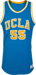 Basketball Collectibles:Uniforms, Early 1980's UCLA Bruins Basketball Game Worn Jersey....