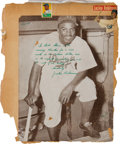 Baseball Collectibles:Photos, 1947 Jackie Robinson Signed Oversized Photograph with LengthyInscription. ...