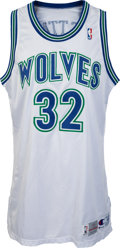 Basketball Collectibles:Uniforms, 1993-94 Christian Laettner Game Worn Minnesota Timberwolves Jersey& Shorts. ...
