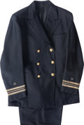 General Americana: , American School (20th Century). Viktor Schreckengost's Officer'sNaval Uniform, circa 1943. Wool, bullion thread, gold-p...(Total: 2 Items)