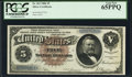 Large Size:Silver Certificates, Fr. 263 $5 1886 Silver Certificate PCGS Gem New 65PPQ.. ...