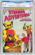 Silver Age (1956-1969):Science Fiction, Strange Adventures #157 (DC, 1963) CGC NM 9.4 Off-white to white pages....