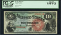 Large Size:Legal Tender Notes, Fr. 96 $10 1869 Legal Tender PCGS Gem New 65PPQ.. ...