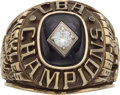 Basketball Collectibles:Others, 1999-2000 Lynn Mickles Yakima Sun Kings CBA Championship Ring. ...