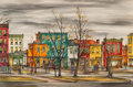 Fine Art - Painting, American:Modern  (1900 1949)  , Viktor Schreckengost (American, 1906-2008). K Street NE#1 and KStreet NE#2 (two works), 1946. Watercolor diptych on...(Total: 2 Items)