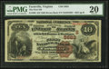 National Bank Notes:Virginia, Farmville, VA - $10 1882 Brown Back Fr. 490 The First NB Ch. #(S)5683. ...