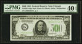 Small Size:Federal Reserve Notes, Fr. 2201-G $500 1934 Federal Reserve Note. PMG Extremely Fine 40 EPQ.. ...