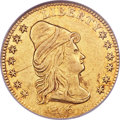 Early Quarter Eagles, 1806/5 $2 1/2 7x6 Stars, BD-2, High R.5, AU53 NGC....