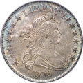 Early Half Dollars, 1806 50C Pointed 6, Stem, O-120, T-28, R.3, MS63 PCGS....