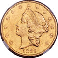 Liberty Double Eagles, 1859-O $20 -- Improperly Cleaned -- NGC Details. AU. Variety 1....