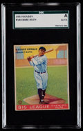 Baseball Cards:Singles (1930-1939), 1933 Goudey Babe Ruth #144 SGC Authentic....