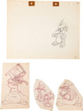 Animation Art:Production Drawing, Hop and Go Animation Drawing Group (Warner Brothers,1943).... (Total: 4 Items)