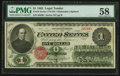 Fr. 16 $1 1862 Legal Tender PMG Choice About Unc 58