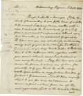 Autographs:Statesmen, St. George Tucker writes to Philadelphia publisher Mathew Careyabout Charles Wilson Peale's American Museum. Two pages, mea...