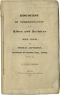 """Books:Pamphlets & Tracts, Daniel Webster Booklet Inscribed """"Judye Davis with the best regards of the author."""" 5.5"""" x 9.2"""", 62-page booklet, writt..."""