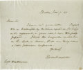 "Autographs:Statesmen, Daniel Webster Autograph Letter Signed ""Daniel Webster."" Onepage, 8"" x 6.75"", Boston, Massachusetts, January 7, 1845. T..."