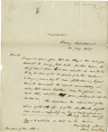 "Autographs:Statesmen, Pair of Levi Woodbury Autograph Letters Signed, ""LeviWoodbury"". The first, one page, 8.0"" x 9.5"", Washington, D.C.,Nov..."