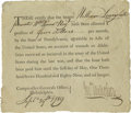 Autographs:Military Figures, Revolutionary War Pension Voucher. One page, partially printed, Philadelphia, September 29, 1789. A scarce document signed ...