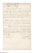 Political:Small Paper (pre-1896), Pair of North Carolina Documents Regarding Slavery. This lotfeatures one handwritten document, and one printed document bot...(Total: 2 )