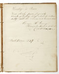 Books:Non-fiction, Medical Archive with Handwritten Journal (1837). George H. Young, M. D., (1817-91). . 1) Medical Journal (1837) entit... (Total: 5 items)