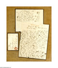"Antiques:Black Americana, Kentucky Slavery Autograph Letter Signed ""S.J. Henry"". Onepage, 7.5"" x 10.0"", April 29, 1861, Henrysville, Kentucky wi...(Total: 3 )"