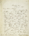 Autographs:Statesmen, In 1861, Congressman Isaac N. Arnold Writes to President LincolnRequesting a Brigadier Generalship for Col. James A. Mulligan...(Total: 2 items)