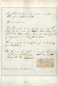 Autographs:Statesmen, Judah P. Benjamin Signature and Autograph Letter This lot consistsof a letter written in Benjamin's hand, and a clipped si...