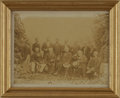"""Military & Patriotic:Civil War, Rare Photo of Robert E Lee and Confederate Officers. Very rare albumen photograph, 7.5"""" x 5.75"""", of General Lee and his Conf..."""