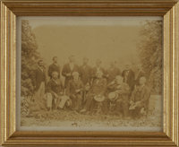 "Rare Photo of Robert E Lee and Confederate Officers. Very rare albumen photograph, 7.5"" x 5.75"", of General Le..."