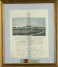 Autographs:Military Figures, Rare 1852 Virginia Military Institute Document Signed by the entiregraduating class including the grandfather of famed WWII G...