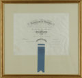 """Autographs:Military Figures, 1860 College Diploma of Alexander """"Sandie"""" Pendleton, prominent Confederate officer University of Virginia diploma for a de..."""
