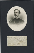"Autographs:Statesmen, Daniel Sickles His signature, ""D. Sickles,"" with closing on a 4.5""x 2.25"" slip of paper likely removed from a letter. Clean..."