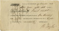 """Autographs:Military Figures, General Richard Taylor Document Signed """"R. Taylor."""" Onepage, 6.8"""" x 3.5"""", St. Charles Parish, Louisiana, December 27, 1..."""