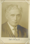 "Autographs:Statesmen, Louis Brandeis Signed Harris & Ewing Photo. A handsome portraitof this jurist and Zionist, 7.25"" x 10.25"", with the Harris ..."