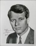 "Autographs:Statesmen, Robert F. Kennedy Inscribed and Signed Photo. An appealing 8"" x 10""black and white, glossy image, nicely framed. Inscribed ..."