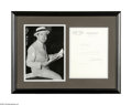 "Autographs:Statesmen, Huey P. Long Typed Letter Signed as U.S. Senator From Louisiana.One page, 7.5"" x 10.25"", U.S. Senate letterhead, January 24..."