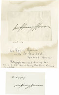 Autographs:Statesmen, Political Autograph Collection 1920s - 1940s consisting of morethan 20 signed items including the following: Eleanor Roosev...(Total: 23 )