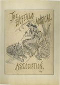 "Autographs:Artists, Frederick S. Church Original Drawing Signed ""F. S. Church"".Titled The Buffalo Musical Association, this drawing sho..."