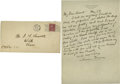 "Autographs:Celebrities, Scarce Clarence Darrow Autograph Letter Signed, on his Personal Stationary. Measuring 7"" x 10.5"", and in very fine condition..."