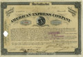 "Autographs:Celebrities, William G. Fargo American Express Stock Certificate Document Signed""Wm G. Fargo"" as president. A partly engraved certif..."