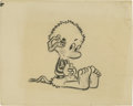 "Autographs:Artists, Original Pogo Cartoon by Walt Kelly, 14.0"" x 11.0"", unsigned. Usinga soft lead pencil on sturdy board, cartoonist Walter C..."