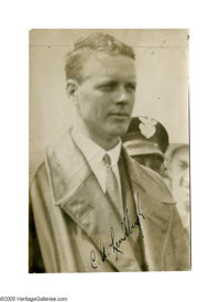 "Charles Lindbergh Photograph Signed C.A. Lindbergh. This 5.25"" x 7.8"" photograph features America's favorite f..."